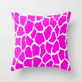 Spot Pattern Pink White Speckled Throw Pillow