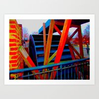 ironworks 2 Art Print