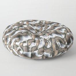 Liquid silver metal Floor Pillow