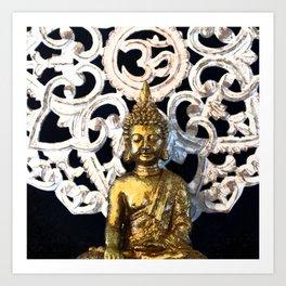 Gold Buddha Om Art Print