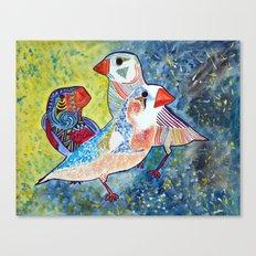 Finches Canvas Print