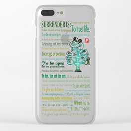 Surrender Clear iPhone Case