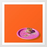 Sprinkle Ice Cream Cookie Sandwich Art Print