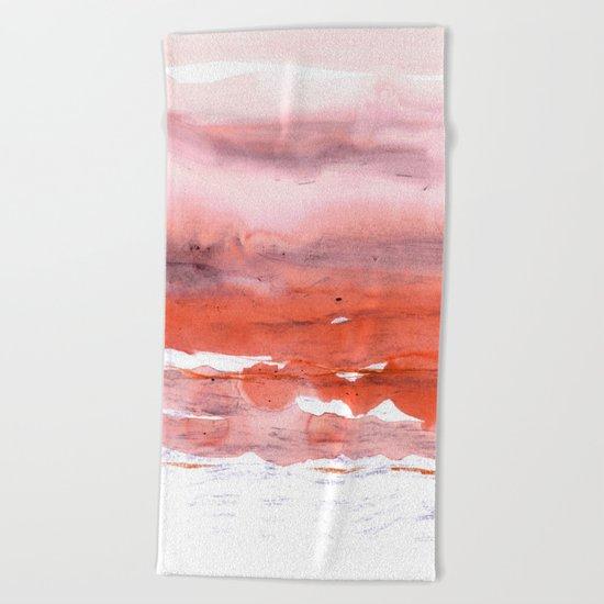 pink & modern orange Beach Towel