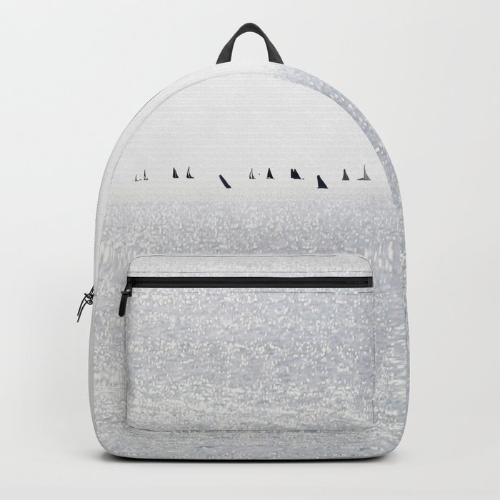 Sailboats regatta seascape Backpack