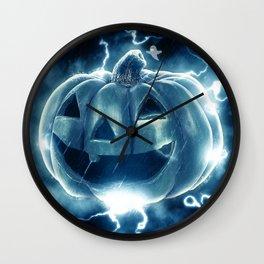 Spooky Jack-o-Lantern Wall Clock