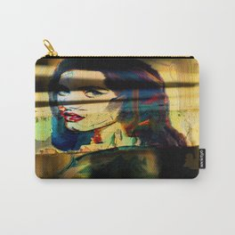 Painted Persephone On Rust Carry-All Pouch