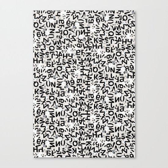 Alpha Type Canvas Print