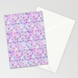 Floral Elegant Tribal Pattern (Pink Maroon Gray Green) Stationery Cards