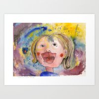 I feel happy Art Print