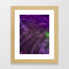 Purple Swipe Framed Art Print