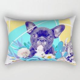 Eclectic Geometrical Bulldog Rectangular Pillow
