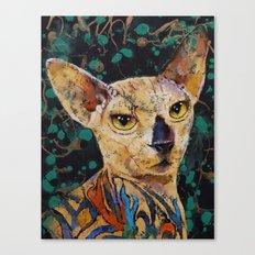 Tattooed Sphynx Canvas Print