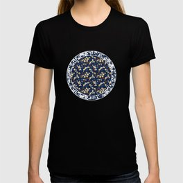 Yellow Clematis Floral Pattern T-shirt