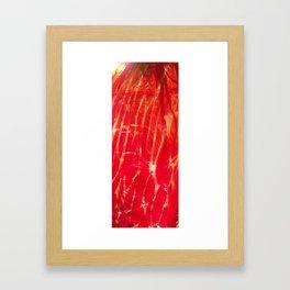 Red shiny dragonglass Framed Art Print