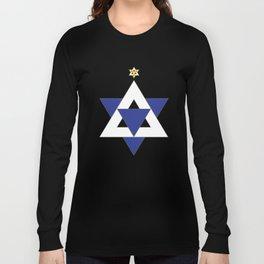 Christmas Star of David Long Sleeve T-shirt