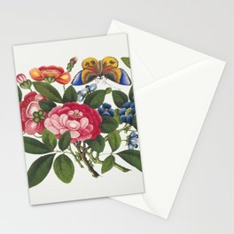 Chinese peony painting from the Qing Dynasty (1644-1911) by anonymous Stationery Cards