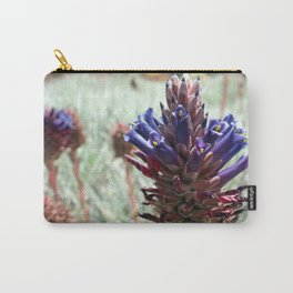 Purple  Flower  Spikes Carry-All Pouch