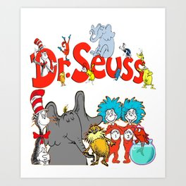 DrSeuss - Read Across America Art Print