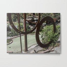 Metal Circles Mini Golf Course Metal Print