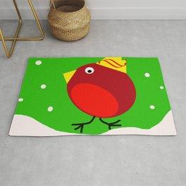 Merry Christmas Robin Rug