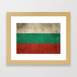 Old and Worn Distressed Vintage Flag of Bulgaria Framed Art Print