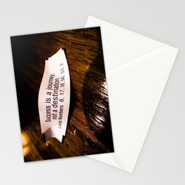 Success is a Journey Stationery Cards