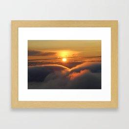 Foggy Catskills Sunset-Landscape Framed Art Print