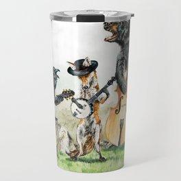 """ Bluegrass Gang "" wild animal music band Travel Mug"