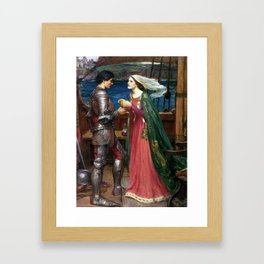 John William Waterhouse Tristan and Isolde with the Potion c1916 Framed Art Print