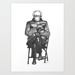 Bernie Sanders Mittens Art Print