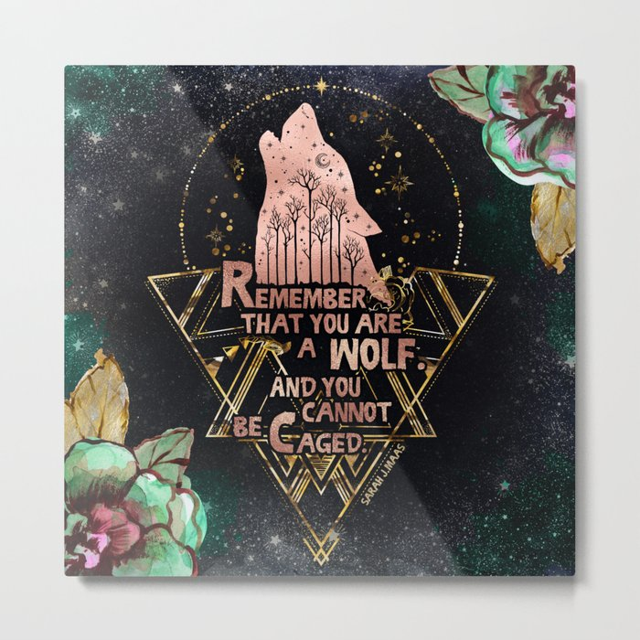ACOWAR - You Are A Wolf Metal Print