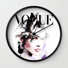 Vogue Fashion Illustration #10 Wall Clock