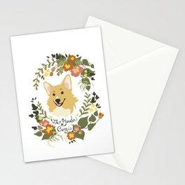 The Garden Corgi  Stationery Cards