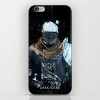 dark souls iPhone & iPod Skins featuring Dark Souls Knight Splatter by 666HUGHES