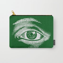 1961 Vintage Eye Drawing Green Carry-All Pouch