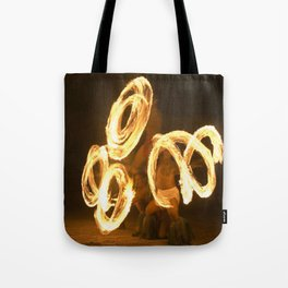 Fire Dancing Pattern Tote Bag