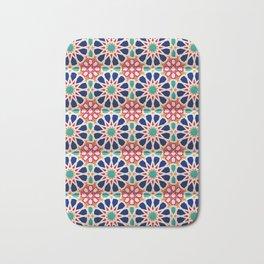 -A21- Traditional Colored Moroccan Mandala Artwork. Bath Mat