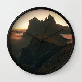 First Light on Seceda Wall Clock