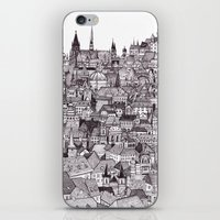 prague iPhone & iPod Skins featuring Prague by Justine Lecouffe