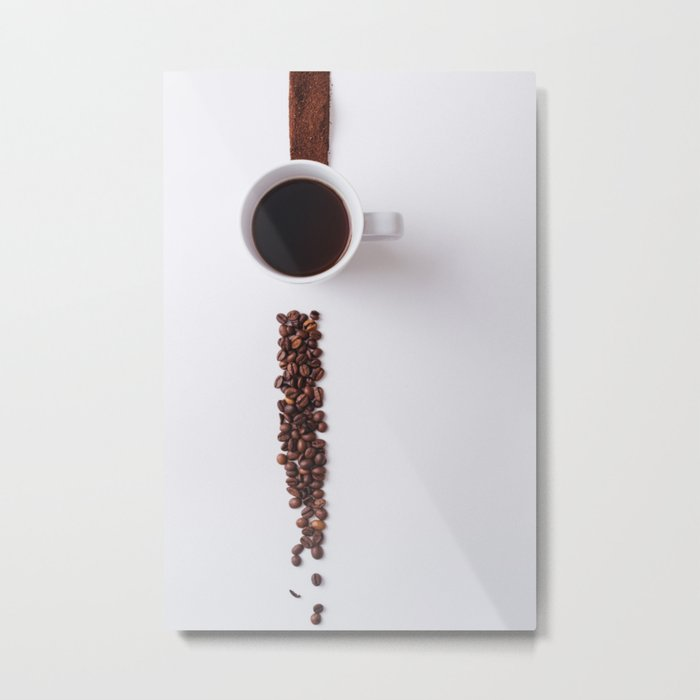 COFFEE - BEANS - CUP - PHOTOGRAPHY Metal Print