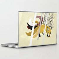 kitsune Laptop & iPad Skins featuring Kitsune by ravenguerrero