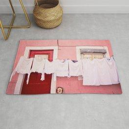 Pink House in Lisbon Rug