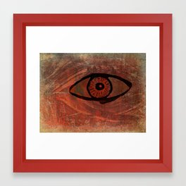 spooky eye Framed Art Print