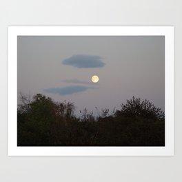 Full Moon over Lomma  Art Print