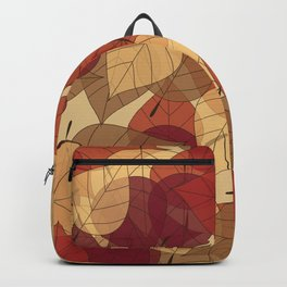 Fallen Leaves Large Backpack