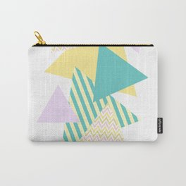 Geometric - Triangles, Pastel Party Carry-All Pouch