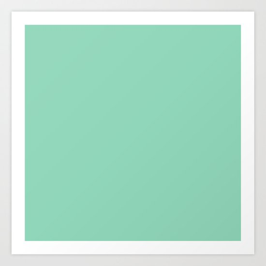 Mint Green Art Print