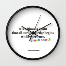 Kant Wall Clock