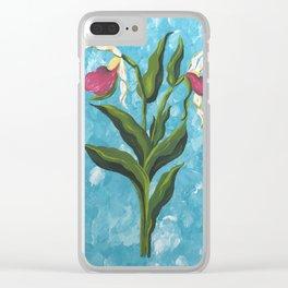 Lady Slipper 1 Clear iPhone Case